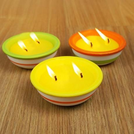2 свещи цитронела в керамична саксия