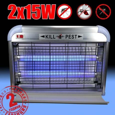 Мощна лампа против комари 2х15 W