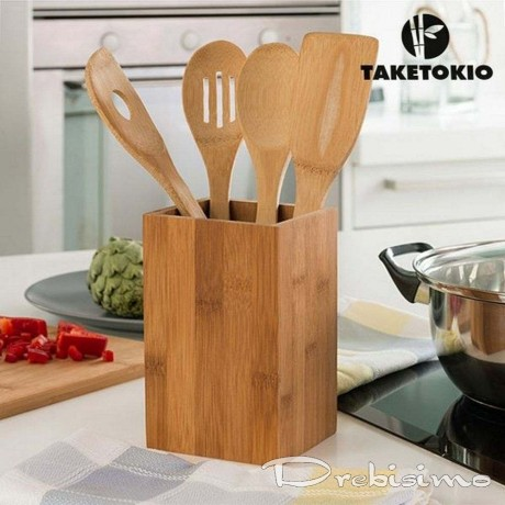 Бамбукови кухненски прибори (5 Части)