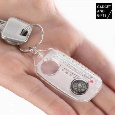 Ключодържател с компас, лупа и термометър