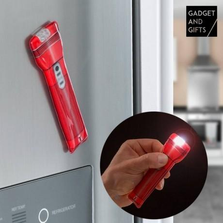 Плосък LED фенер с магнит за хладилник