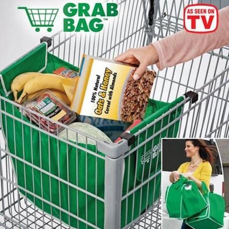 2 бр. пазарски чанти за количка