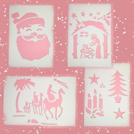 Коледни шаблони за декорация по прозорци