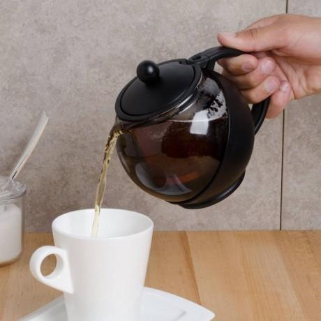 Стъклен чайник с метален филтър