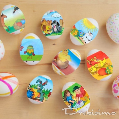 12 бр. термо стикери за великденски яйца